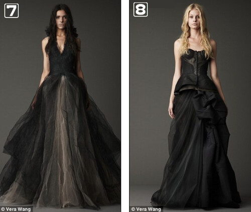 Which one of these black vera wang wedding dresses would you wear black wedding dresses 4 vera wang junglespirit Image collections