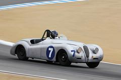1950 Jaguar XK 120 (autoidiodyssey) Tags: 120 car race vintage jaguar 1950 xk montereyhistorics 2011rolexmontereymotorsportsreunion