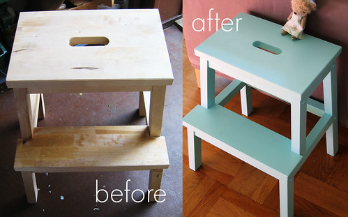 Furniture painting turquoise 2