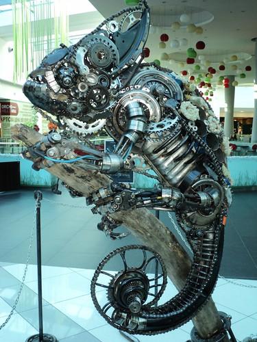Amazing steampunk chameleon