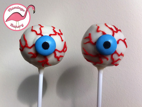 Scary eyeball cake pops
