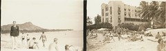 1939 Waikiki Beach Oahu Hawaii (PeaceLoveScoobie) Tags: ocean beach swim vintage hawaii hotel surf pacific waikiki oahu duke surfing retro diamondhead honolulu 1939 royalhawaiian outrigger