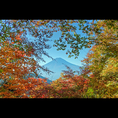 Mt. Fuji in fall -HDR (nipomen2) Tags: fall japan fuji mt pass sigma hdr yamanashi dp2 misaka fujikawaguchiko