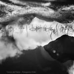 Reflejos Torres del Paine Chile B&W