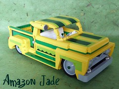 1955 Ford F-100...Amazon Jade (Lino M) Tags: ford 1955 amazon lego f100 jade build lowrider challenge lino lugnuts thestuffdreamsaremadeof ironbuilder