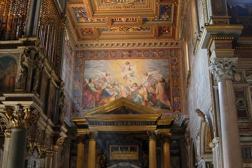 Fresco de la Ascención en el transepto sur
