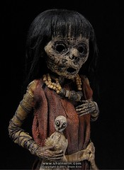 Mummy Art Doll Sculpture – M40 (Shain Erin) Tags: sculpture art mixedmedia ooak fineart tribal artdoll mummy oddity mummydoll worldart shainerin