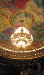 Ceiling painted by Marc Chagall in Paris opera (Palais Garnier) [Explore] (Sokleine) Tags: paris france lamp opera painted eu ceiling palais chagall garnier iledefrance plafond lustre marcchagall