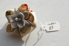 (cuttlefishlove) Tags: flower japanese cream silk fabric textiles hairclip silkflower kanzashi hairaccessory fascinator hairornament tsumamikanzashi kanzashiflower flowerfascinator silkfascinator
