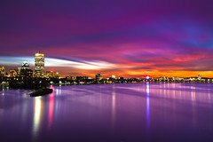 Long Exposure Sunset from Longfellow Bridge - Charles River (ctanner999) Tags: longexposure bridge cambridge sunset boston skyline night canon river ma photography long exposure mark charlesriver charles ii 5d bostonma longfellow longfellowbridge bostonskyline canon35mmf14l canon5dmarkii