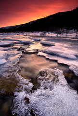 Freeze-up (Wolfhorn) Tags: sunset snow cold ice nature alaska landscape wilderness freezeup