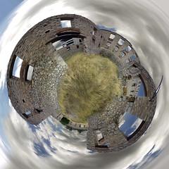 Huge Factory Little Planet, Halkis City (amfipolos) Tags: photoshop photography factory 360 sonycybershot polarcoordinates chalkis halkida littleplanet polarpanorama halkis stereographicprojection