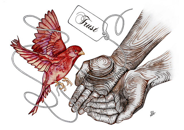 bird in hand a4 RED