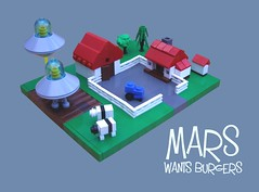 Mars Wants Burgers (2 Much Caffeine) Tags: lego farm aliens flyingsaucers cattlemutilation microscale ironbuilder