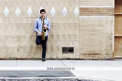 Brooklyn Blues - NYC (Naomi Rahim (thanks for 2 million hits)) Tags: street city musician music usa newyork wall brooklyn diamonds dumbo sidewalk saxaphone busker performer footpath