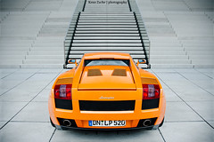Gallardo *Explored* (Keno Zache) Tags: orange photography italia power hafen dsseldorf lamborghini gallardo stufen treppen keno sportwagen zache