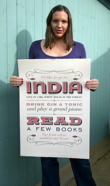 India Song hand pulled print