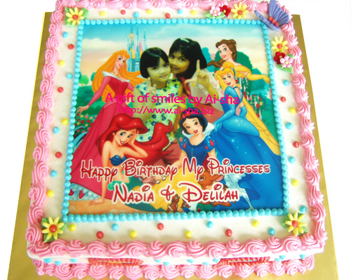 Birthday Cake with Edible Image Disney Princess