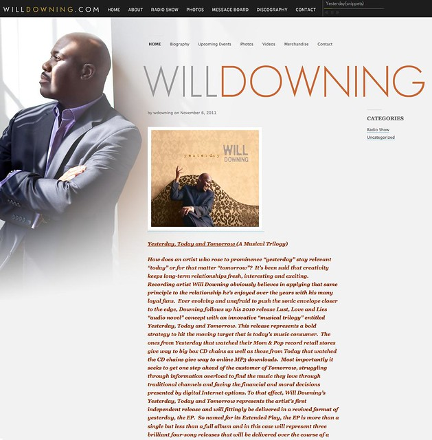 Will Downing - Yesterday CD Cover ~ Photography by Doug Seymour