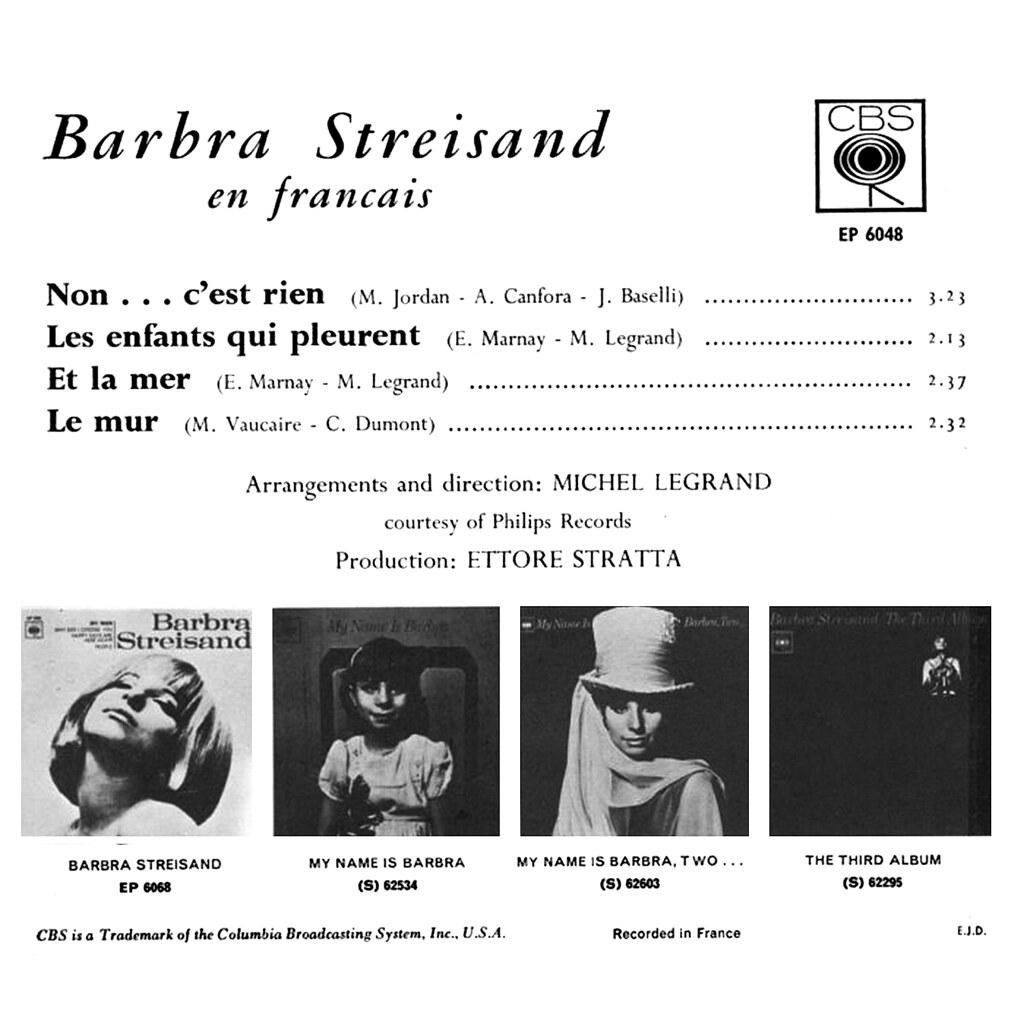 Barbra Streisand Lp Cover Art
