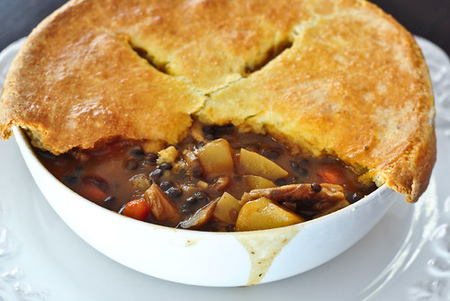 mushroom and lentil pot pie