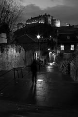 The Vennel (Tannachy) Tags: city blue portrait urban white black self lights evening scotland edinburgh steps hour