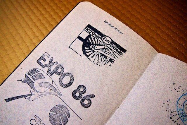Roundhouse Stamp in my Expo86 Passport