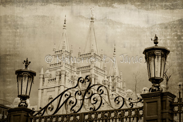 Salt Lake Vintage LDS Temple Prints -10
