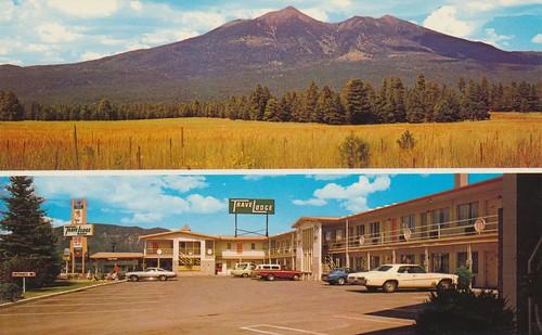 arizona vintage postcard motel flagstaff travelodge