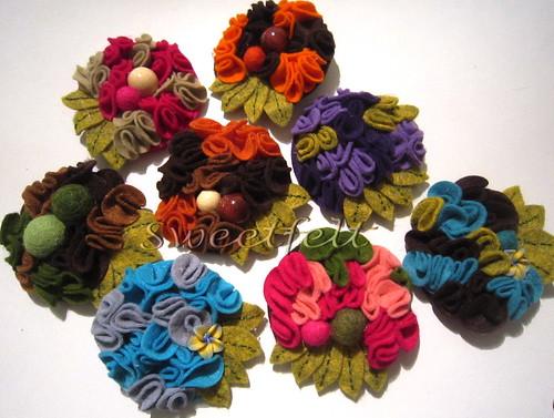 ♥♥♥ Flores de trazer ao peito... vamos florir o Inverno? by sweetfelt \ ideias em feltro