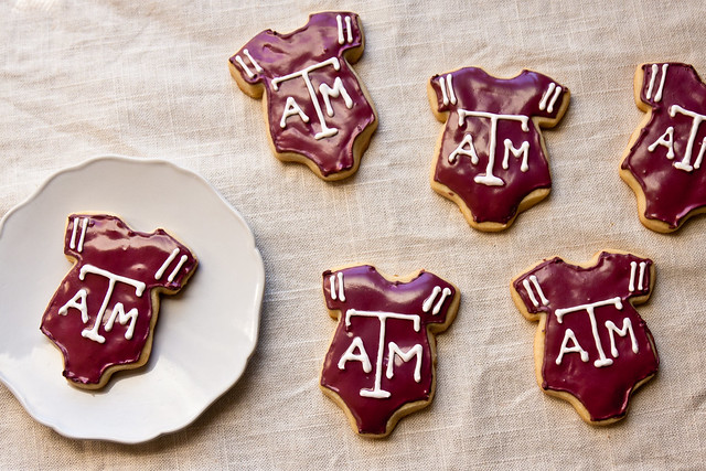 Texas A&M Onesie Cookies
