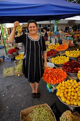 Uzbekistan, Bukhara, Small Farmers Market, Kryty Rynok (MY2200) Tags: road woman ancient asia farmers market muslim islam small central silk silkroad uzbekistan centralasia bukhara boukhara usbekistan uzbek bokhara rynok kryty