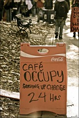 cafe occupy .... (ana_lee_smith) Tags: bw toronto sepia vintage lens photography march site portait rally protest photojournalism documentary saturday social financialdistrict demonstration beercan solidarity portraiture queenspark stjamespark kingstreet ot assembly royalbank 2011 legislativebuilding ows landclaims the99 sacredfire nov12th nativerights analeesmith globalmovement minoltaaf70210mm occupiedland sonyslta33 occupytoronto occupyingtoronto insolidaritywiththefirstnationspeopleofcanada