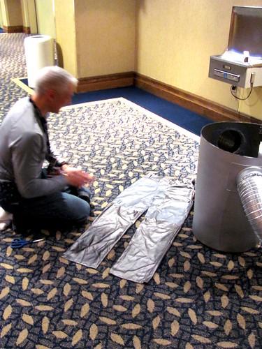 Wardrobe Malfunction with Bender Costume at Hal-Con 2011 in Halifax, Nova Scotia