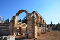 Anjar, Umayyad city, al-Walid I, 705-15, along the decumanus maximus (19) (Prof. Mortel) Tags: lebanon umayyad anjar