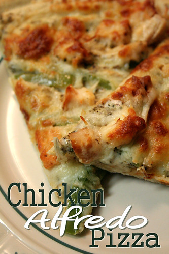 Chicken Alfredo Pizza.