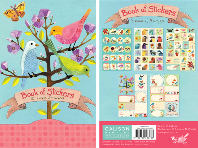 My birdie stickers for Galison