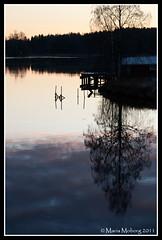The River (mmoborg) Tags: sunset reflection water river sweden älv sverige vatten dalarna reflektion solnedgång 2011 spegling mmoborg mariamoborg