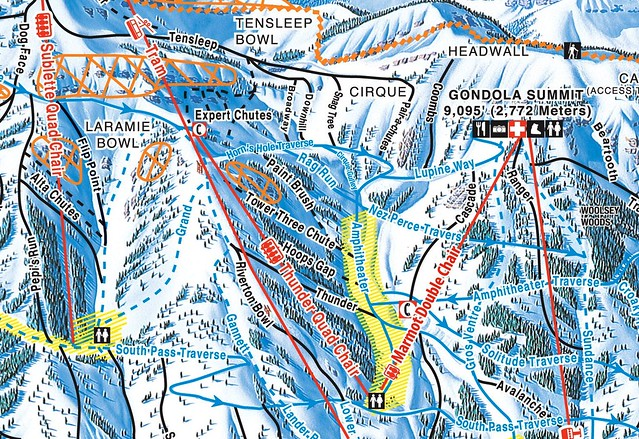 map with Marmot Lift
