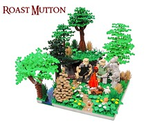 Roast Mutton (Blake's Baericks) Tags: city trees castle classic forest landscape town lego dwarf contest lord elf rings gandalf troll ccc raid bandit blake hobbit colossal tolkien bilbo baggins dwarves baer