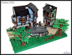 Lego -The Alternate History Contest- 2nd Place! (=DoNe=) Tags: world 2 france by war tank lego iii contest scene made homemade german soldiers custom done entry outpost stug legoww2 legoww2scene legothealternatehistorycontest