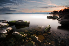 Rock shapes (- David Olsson -) Tags: longexposure sunset lake nature water landscape nikon rocks sweden stones sigma karlstad le 1020mm polarizer 1020 vnern cpl vrmland polarizingfilter ndfilter lakescape smoothwater skutberget d5000 davidolsson nd500 lightcraftworkshop 2exposuremanualblend ginordicnov