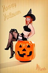(Allyeska) Tags: new halloween up vintage pumpkin spider glamour pin witch jackolantern retro zealand nz jess lantern pinup