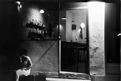 Midnight afe (Valentine Kleyner) Tags: street zorki city bw film night 50mm israel kodak rangefinder jupiter