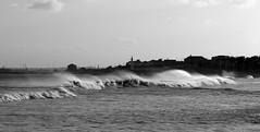 Wind swept waves off Seaburn (soxstripy Joe 1954) Tags: blackandwhite beach north northeast bigwaves sunderland blackandwhitephoto northeastengland seaburnbeach bigsea northeastcoastengland