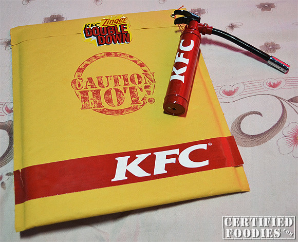 KFC ZINGER DOUBLE DOWN is too hot for you