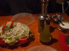Gigantic Salad Plate & Accessories (MookieLuv) Tags: family vacation chicago salad foodporn quadcities bigsalad oilandvinegar chicagopizzaovengrinderco