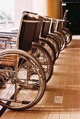Wheelchairs.