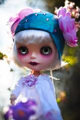 The Spring Fairy (Dart ) Tags: doll dress helmet jardin henriette chips handpainted blythe custom enchanted raffe simplyvanilla liquiriziadolly tealtemptationscollection