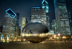 Spaceship Earth (Brian Koprowski) Tags: city chicago skyline illinois downtown pentax bean millenniumpark cloudgate thebean hdr pentaxk5 briankoprowski bkoprowski